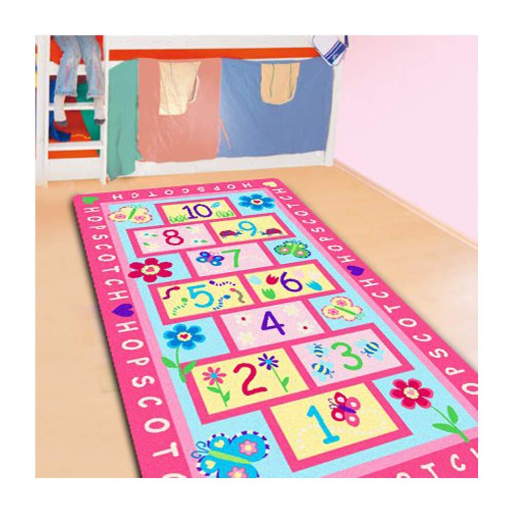 RULDGEE 1 PC mode marelle enfants tapis chambre, tapis rose doux, Figure de concepteur tapis pour enfants