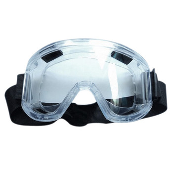 PC Lens Protective Glasses Splash Proof Eyes Safety Security Labor goggles Breather Valve Striking Resistant Midoni White image