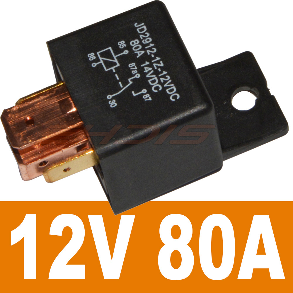 5pcs 5 Pin Jd2912 1z 12vdc 80a 14vdc Spdt Truck Boat Van Vehicle Relays Power Distribution Relay 12v 24v Useful Dc Current 5pin Continuous Type Car Motor C04