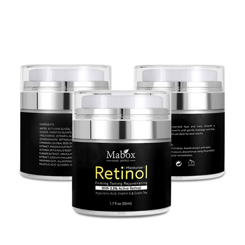 2.5% Retinol Whitening Face Cream + Vitamin C Serum Anti Aging Anti Vitamin C Moisturizer Face Cream