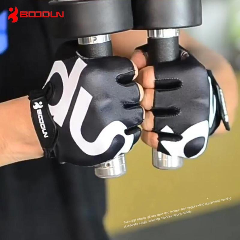 Bernapas anti slip sarung tangan gym kebugaran pria wanita latihan olahraga pelatihan crossfit latihan angkat berat sarung tangan