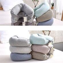 Cotton U-Shape Pillow Neck Headrest Car Flight Travel Soft Nursing Cushion