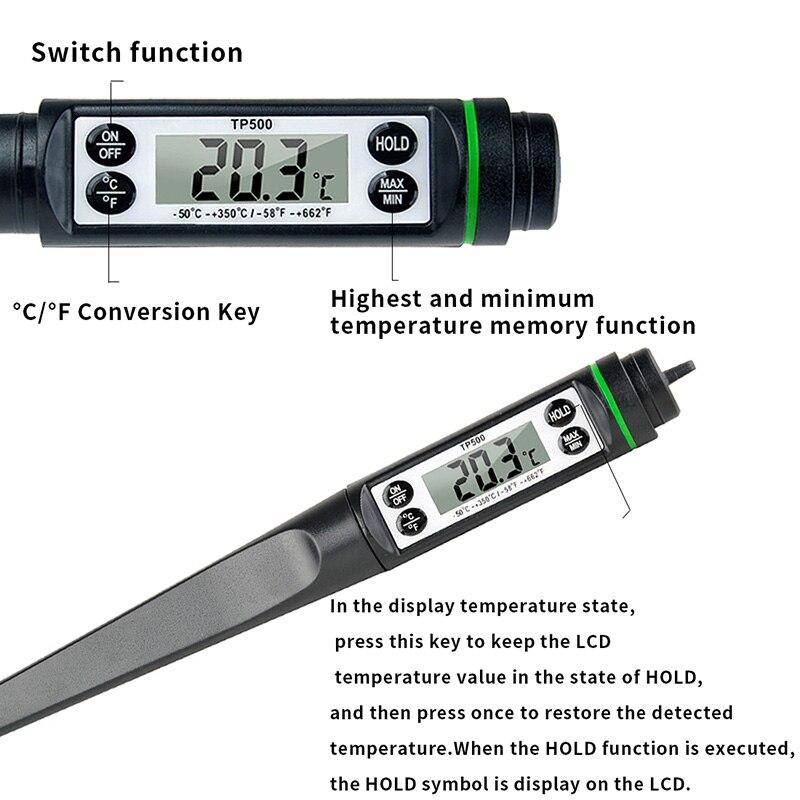 Ванна для младенцев термометр Кухонный Термометр для духовки Еда Мясо Молоко электронные цифровые термометры Индикатор нагрева