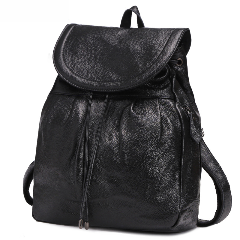 New Arrival 100% Genuine Leather women's  Casual Backpack Fashion Shoulder Bags women's chian cow leather bags new arrival 100