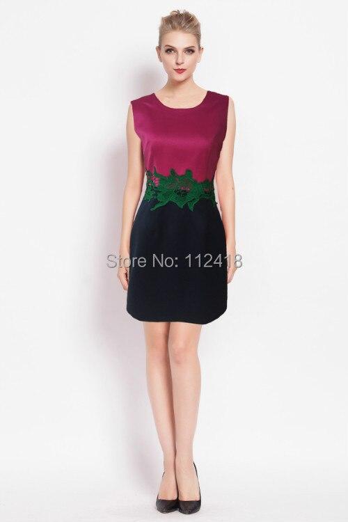 Fahion Dress  Co.,Ltd Beautiful  New Arrival Women Patchwork Sheath Dress Fashion Appliques Casual Dresses 1531