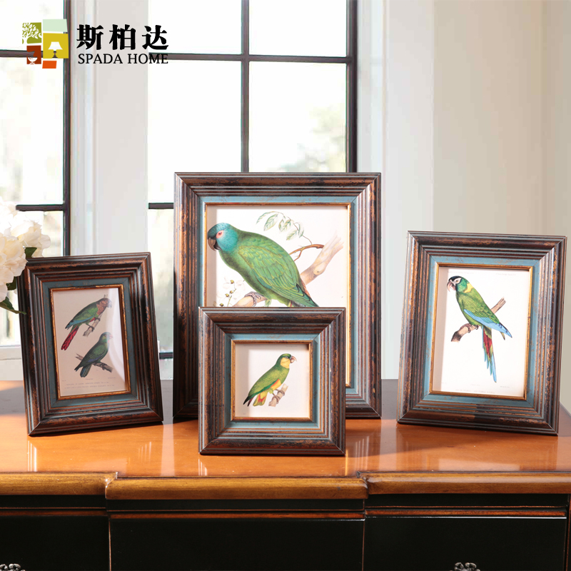 1 Piece Plastic Photo Frame Vintage Style Photo Frame For Picture