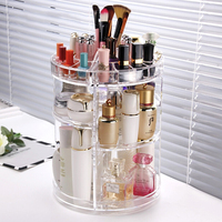 NEW Fashion 360 Degree Rotating Makeup Organizer Box Brush Holder Jewelry Organizer Case Jewelry Makeup Cosmetic