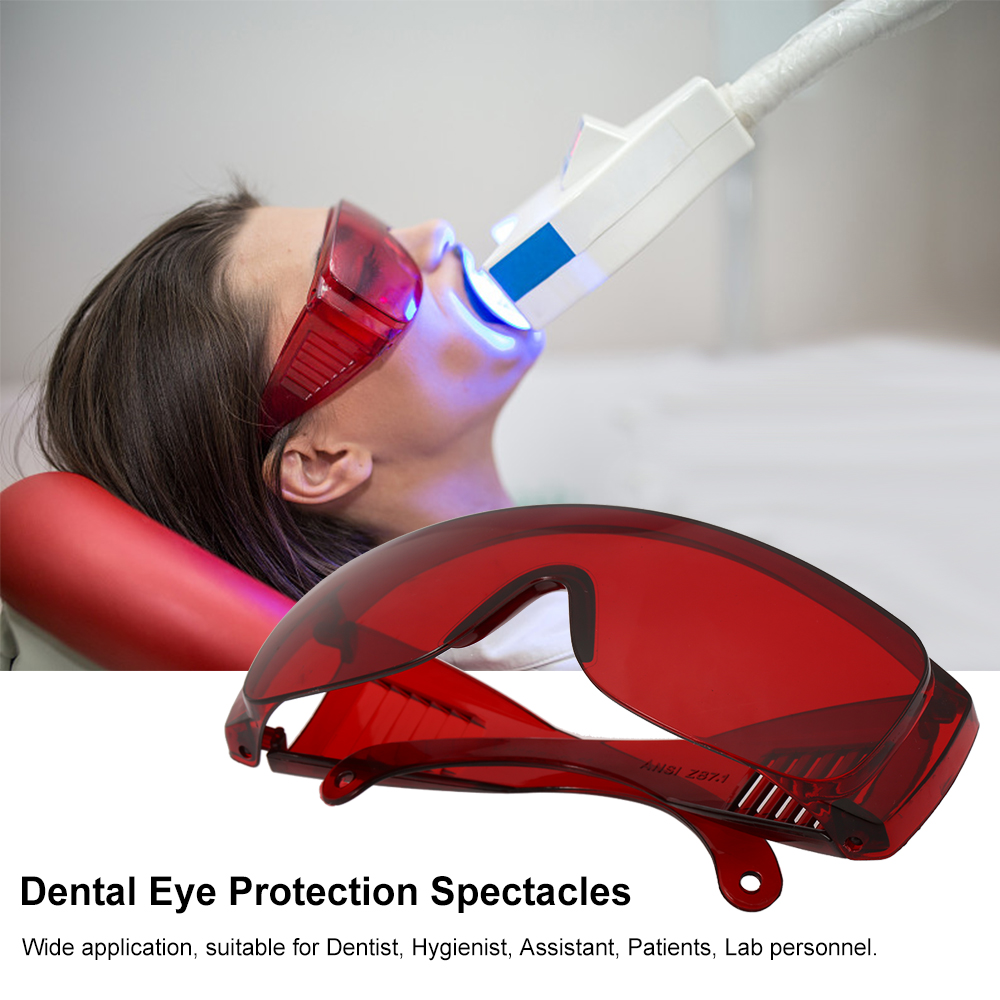Dental Eye Protection Glasses Tooth Whitening Curing Light UV For Dentist Spectacles Red Goggle Glasses Protective Eye