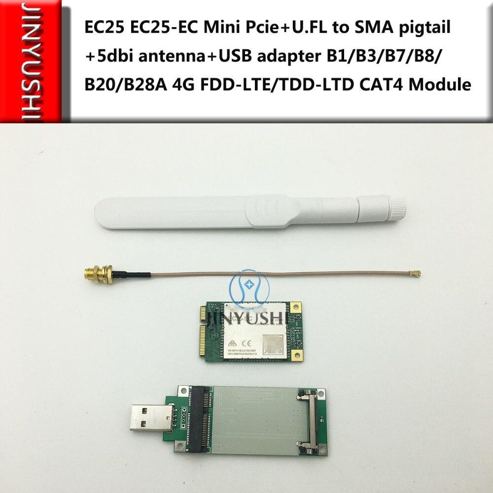 Jinyushi Ec25 Ec25-ec Mini Pcie Usb Adapter B1/b3/b7/b8/b20/ B28a 4g Fdd-lte/tdd-ltd Cat4 Modul Spezieller Sommer Sale 5dbi Antenne Fl Zu Sma Zopf U