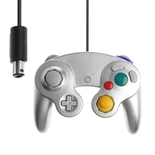 Wired Handheld Joystick Gamepad Controller For Nintendo Gamecube Console For NGC Console For Gamecube Controller with tracking number wired game controller gamepad for n gc joystick with one button for gamecube for wii