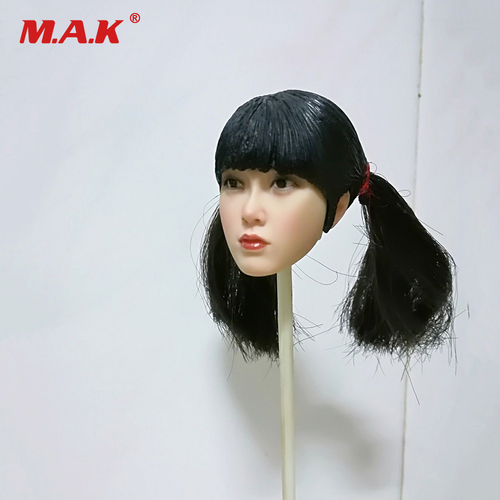 1/6 Republic of China Beautiful Female Head Sculpt Bangs Sister Girls Head Carved PVC Head Model for 12'' PH Action Figure 1 6 female head for 12 action figure doll accessories marvel s the avengers agents of s h i e l d maria hill doll head sculpt