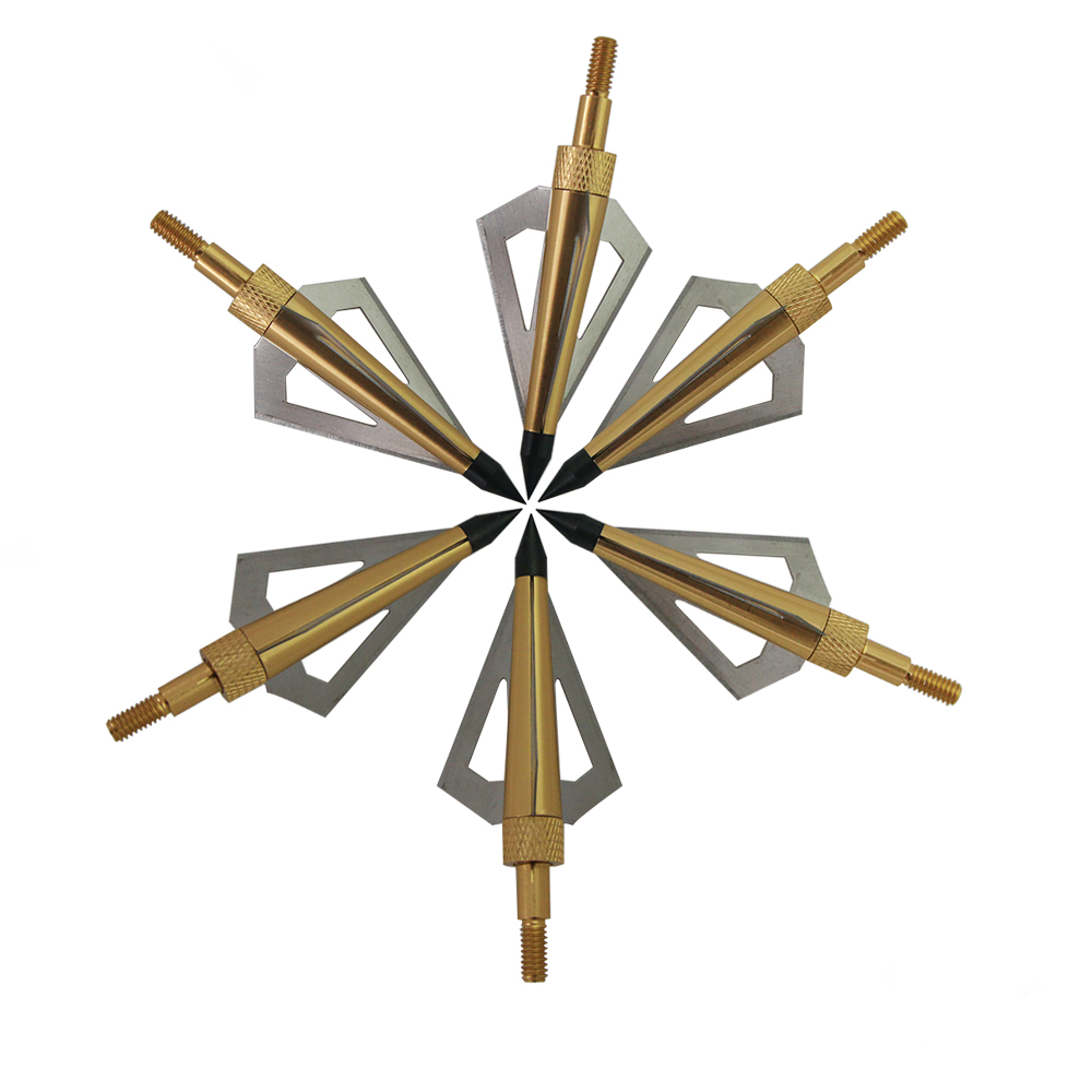 Image 4 - 12Pcs 125 Grain 3 Fixed Blade Archery Broadheads Arrow Head Hunting Arrow Tips Golden for Compound Bow and Crossbow-in Bow & Arrow from Sports & Entertainment