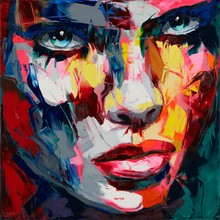 High quality Palette knife Francoise Nielly Designers Art Hand Painted Oil Painting Canvas Pop Living Room Decoration