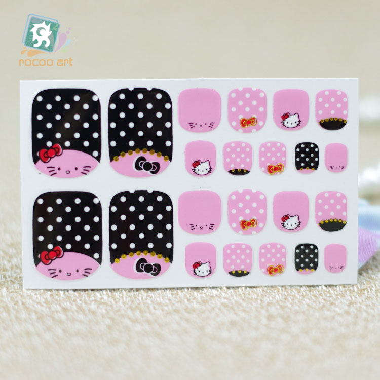 Rocooart Y5534 Fashion Sexy Beauty Stick Toe Nail Art Stickers Pink