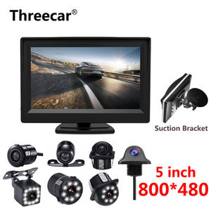 Monitor Backup-Camera Assistance Rearview Parking Car-Reversing 5inch Bracket with 2-In-1