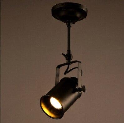 Vintage single head long pole led tracking light pendent lamp ...