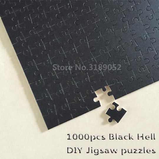 1000 stuk Zwart Hel Puzzel Puur Zwart creatieve DIY Puzzel Creativiteit Voorstellen Speelgoed Magic puzzels geduld speelgoed