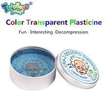 Kreatif Empat Warna Tangan Gum Transparan Bouncing Plastisin Lendir cahaya Tanah Liat Fimo Lumpur Doh Dewasa Dekompresi Mainan Anak-anak Hadiah