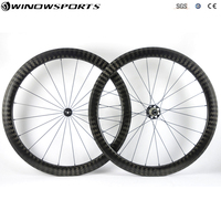 12K Twill weave Road bike wheels Cycling Bicycle WheelSet 50mm Clincher Carbon Wheels With 12K Twill Weave 23mm Wide Road Wheels