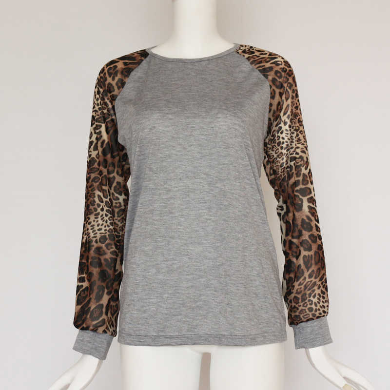 03de3fbe57 ... Rogi Leopard Women Tops and Blouses 2019 Casual Long Sleeve Blouse Shirt  Basic Ladies Tops Blusas