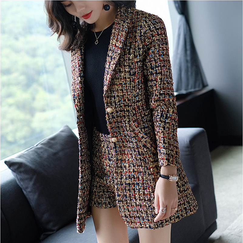 Thick Suits Women Two Pieces Set Elegant Design Single Breasted Blazers Pockets Trousers High grade Fabric New Fashion 2018 in Women 39 s Sets from Women 39 s Clothing