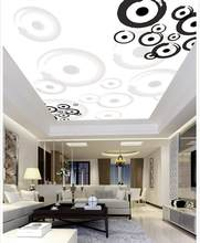 Custom 3d mural wallpaper Fashion circle ceiling ceiling frescoes ceilings papel parede mural wallpaper ceiling(China)