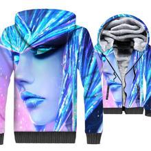 harajuku hooded coats male wool liner clothing Competitive game 3D prints hoodies men 2018 long sleeve thick hip-hop jackets man цена и фото