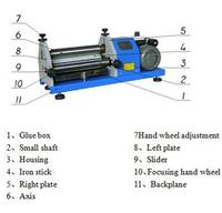 Automatic Gluing Machine 40cm Glue Coating Machine Applicator Roller For Paper Leather Wood Fast Shipping