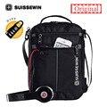 2018 Swiss Messenger Shoulder Bag 11 inch Black Bag for Ipad handy crossbody bag for students Casual Oxford Messenger Satchel