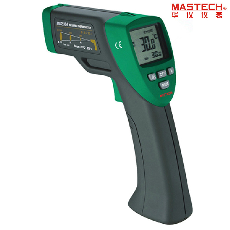 MASTECH MS6530B 12:1(D:S) Digital Non-contact Infrared Thermometer IR Temperature Meter with Laser Sighting and Backlight mastech 20 to 350 degree ms6530b 12 1 non contact infrared thermometer ir temperature sensor meter ntc temperature sensor