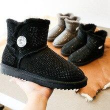 Prima 2017 de alta calidad Botas de Nieve de Australia 100% piel de oveja natural de una mujer botas moda casual botas cálido envío gratis