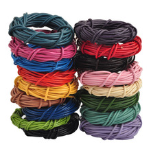 LNRRABC 5M (196 inch ) Length 2mm Diamter DIY Leather String Cords Rope For Necklace Bracelet Charms Jewelry Making Findings