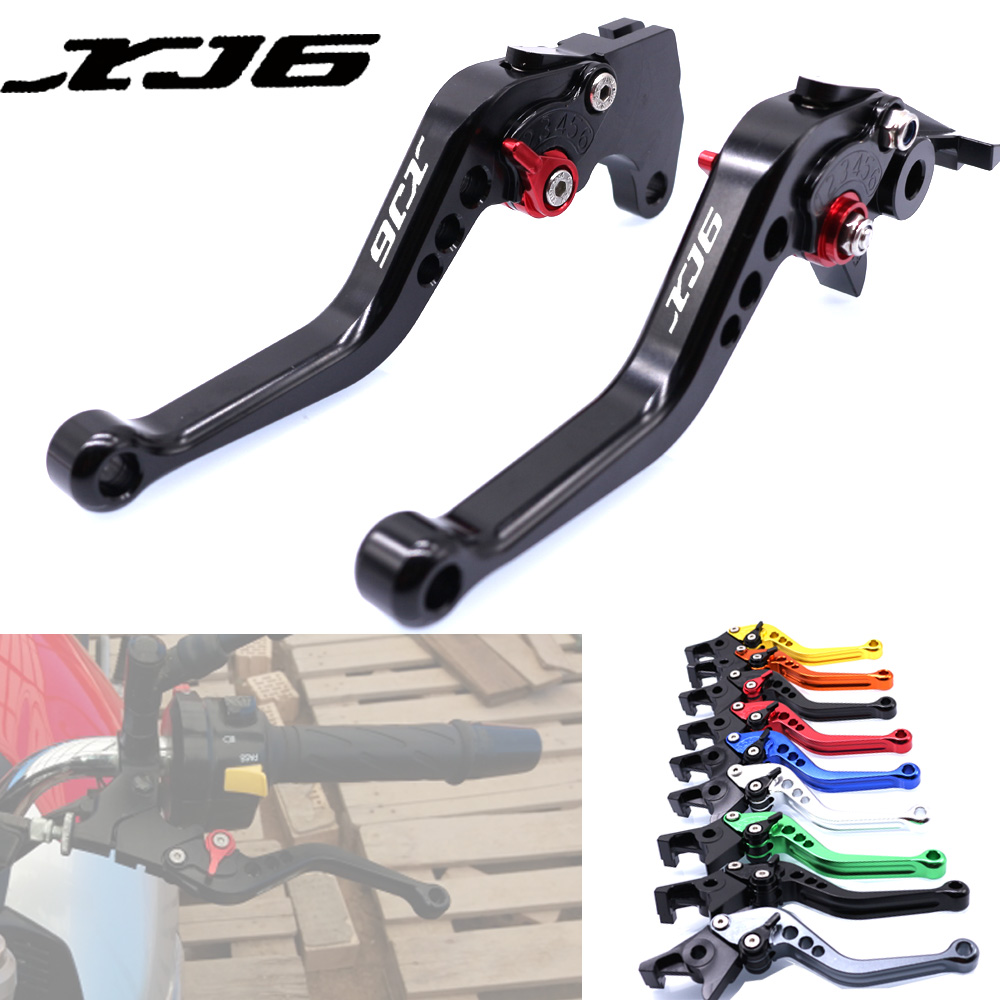For YAMAHA XJ6 DIVERSION 2009-2015 2010 2011 2012 2013 2014 Motorcycle Accessories CNC Short Brake Clutch Levers LOGO XJ6