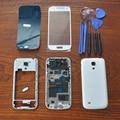 Белый Полный Крышку Корпуса Запчасти, Внешнее Стекло, Оригинальный клей, Инструменты, Домашняя Кнопка Для Samsung Galaxy S4 SIV Mini i9190 i9195
