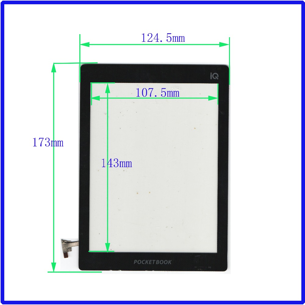 POST 8 inch capacitive touch for IQ701 TABLE book glass touch screen