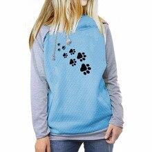 Beautiful dog / cat paw footprints women's hoodie