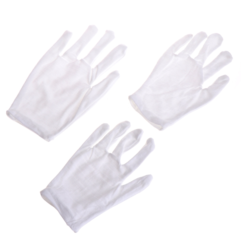 KLV Kids Fun Express White Etiquette Polyester Child Size Performance Costume Gloves