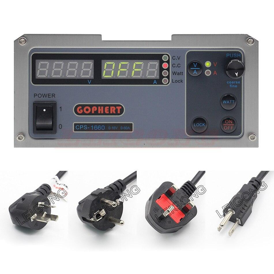 GOPHERT CPS-1660 16V 60A  Digital Adjustable DC Power Supply Switching power supply gophert cps 1660 16v 60a digital adjustable dc power supply switching power supply cps 1640