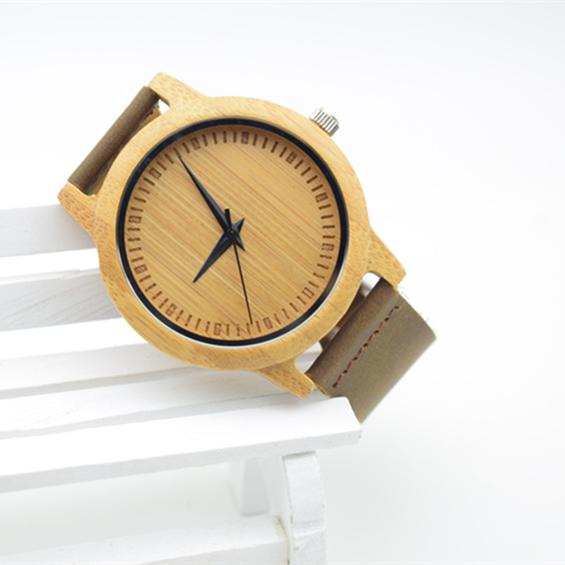 Hot Selling Japanese MIYOTA Movement Wristwatch Genuine Leather Bamboo Wooden Watches For Men And Women Bracelet japanese miyota 2035 movement wristwatches genuine leather bamboo wooden watches for men and women gifts relogio masculino