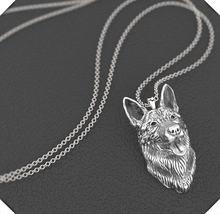 Оптовая продажа ожерелье в виде немецкой овчарки ручной работы