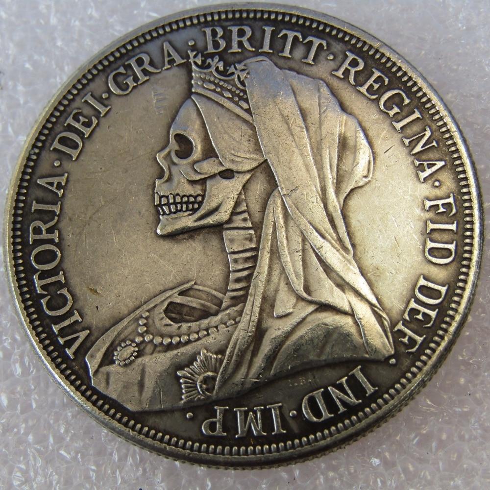 Hobo Creative 1893 Great Britain silver crown Queen Victoria veiled head copy coin High  ...