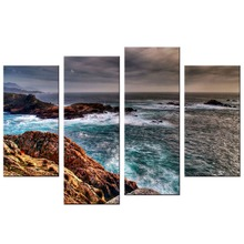 4 Pcs/Set Modern Seascape Painting Canvas Art HD Sea Landscape Wall Picture For Bed Room