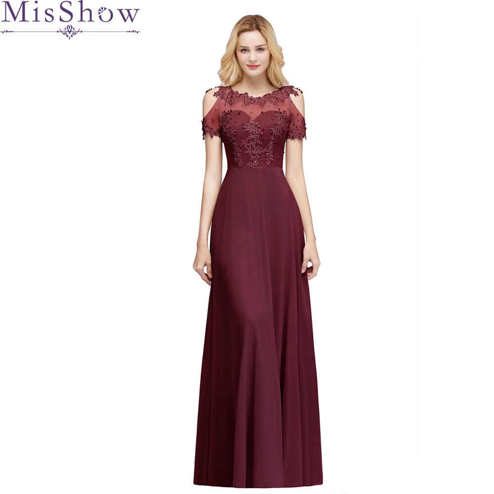 3389b35afe4ba Yeni Varış Uzun balo kıyafetleri Şifon Sheer Boyun Illusion Geri Abiye  Örgün Parti Elbisesi Boncuk Kadın