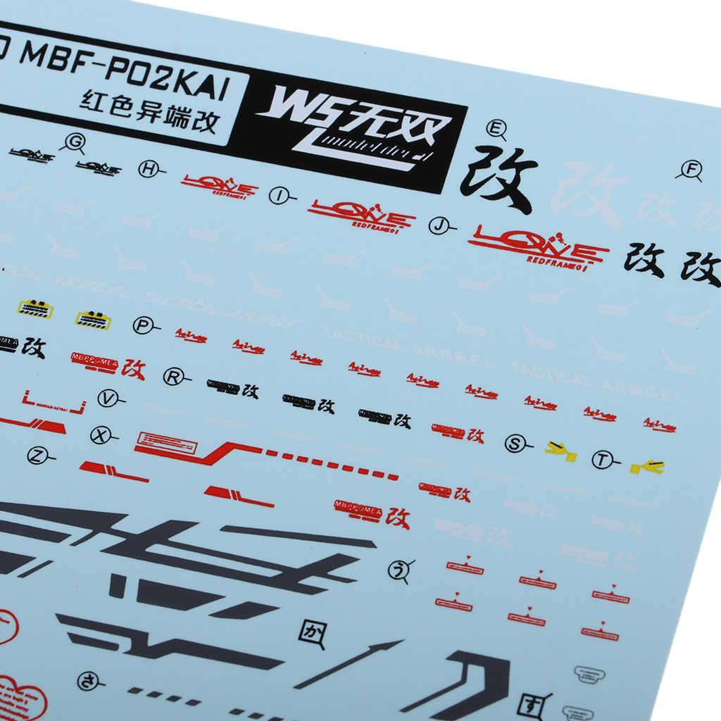 Model naklejka naklejki na wodę zabawki akcesoria do modelowania dla MG 1/100 Gundam Model akcesoria MG Model kalkomanie