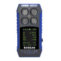 Portable 4 in 1 Gas Tester Analyzer Carbon Dioxide CO2 H2S Detector Flammable Gas Analyzer Monitor Toxic Harmful Gas Detector