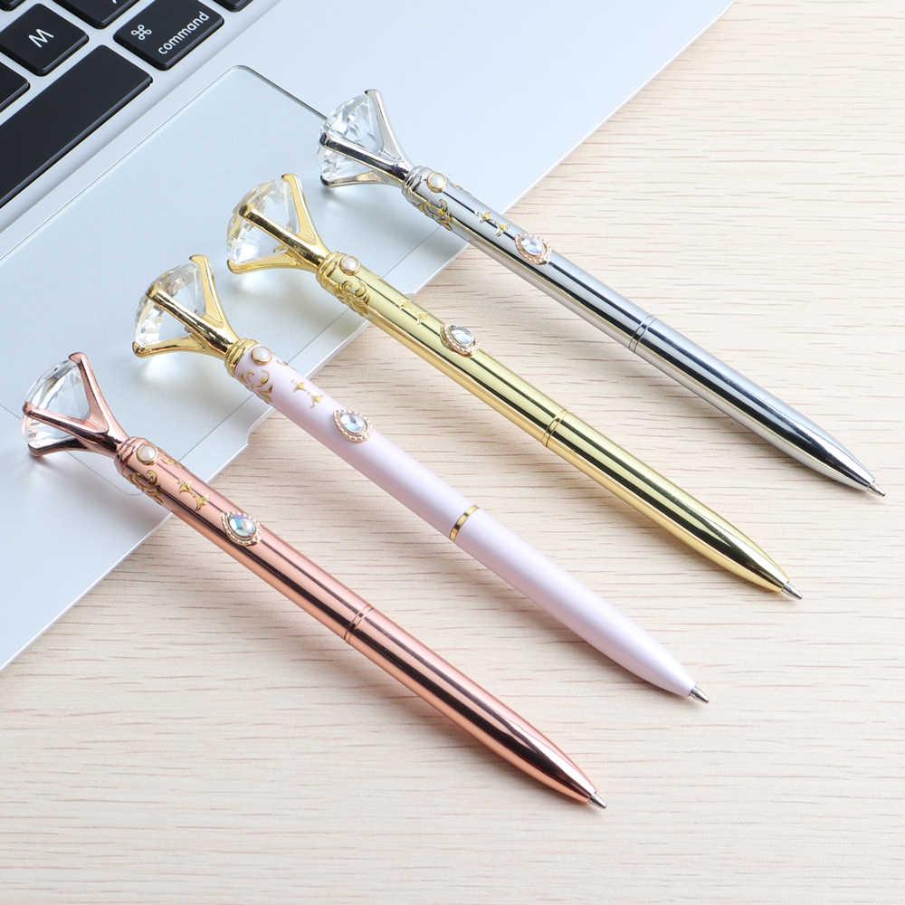 2PCS 새로운 귀여운 펜 대형 다이아몬드 금속 볼펜 애니메이션 선원 문 편지지 Office 편지지 쓰기 용품 또는 선물