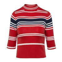 Sisjuly Women 60s Sweaters Autumn Color Block Pullover Long Sleeve Striped Sweater Fashion Casual Cute Female