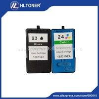 2 adet/takım uyumlu mürekkep kartuşu için Lexmark L23 L24 X3530/X3550/X4530/X4550/Z1420/Z1410