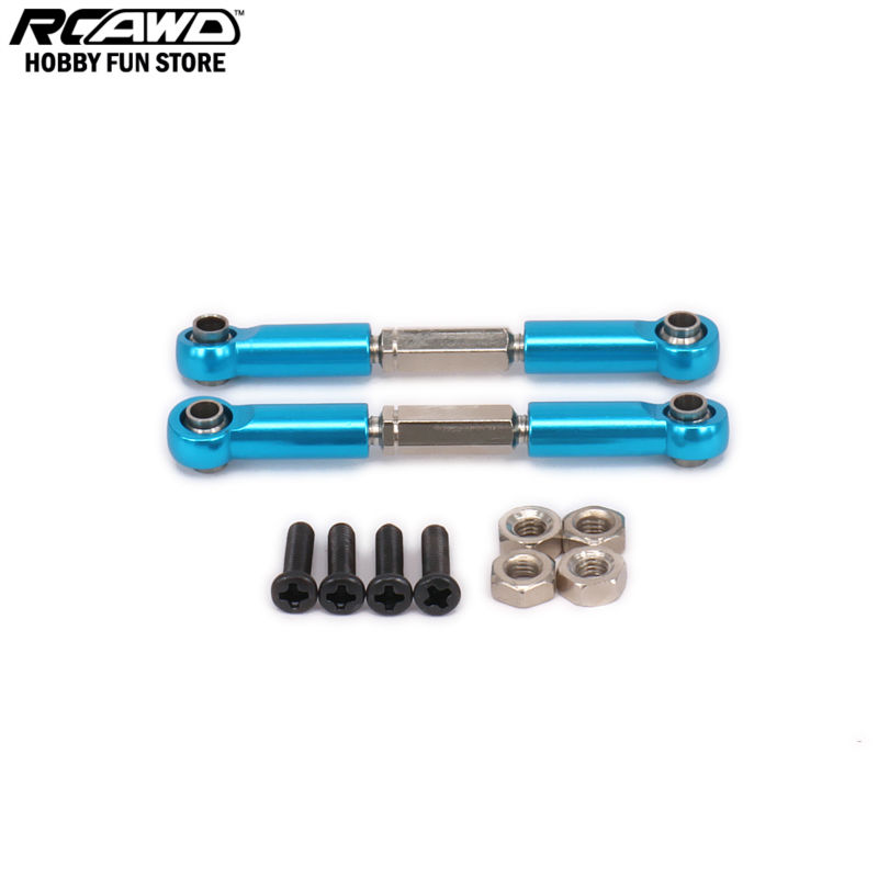 RCAWD Steel Steering Servo Link Rear Arm Tie Rod For RC Car 1/12 Wltoys L959 L969 L979 L202 L212 L222 K959 Crawler Buggy phfu vehicle car steering tie rod boot bellows dust cover part 53535 sna a01