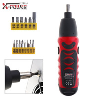 Mini Handle 6V Battery Operated Cordless Electric Screwdriver Screw Driver Power Tools With Bidirectional Switch And